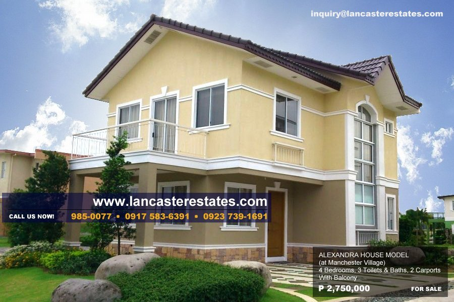 Lancaster Estates Alexandra House Model- House and lot for sale in Cavite Philippines